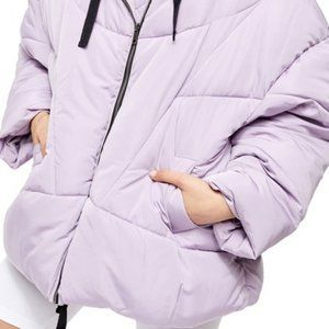 Free People Hailey Puffer Jacket in Lilac